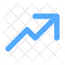 Trending Up Increased Growth Icon