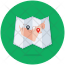 Tri Folded Map Destination Map Paper Map Icon