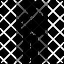 Triangle Hoding Man Icon