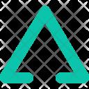 Triangle Decoretive Stroke Icon