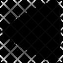 Triangle Arrow Back Icon