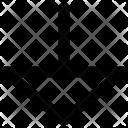Triangle Arrow Down Arrow Icon
