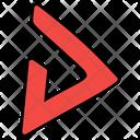 Triangle Arrow Recycle Symbol Triangle Logo Icon