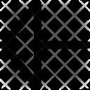 Triangle Arrow Left Arrow Icon