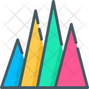 Triangle Bar Chart Icon