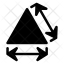 Triangle Dimension Arrows Icon