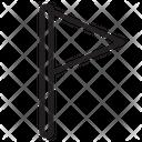 Triangle-flag Icon