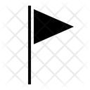 Triangle Flag Flag Stop Icon