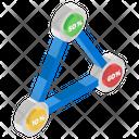 Triangle Graph Icon