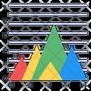 Graphical Representation Data Visualization Triangle Graph Icon