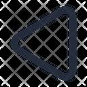 Shape Triangle Left Icon