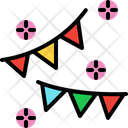 Triangle Party Flags Icon