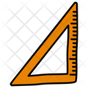 Triangle Ruler Scale Measurement Ruler Icon