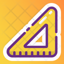 Ruler Scale Triangle Ruler Icon