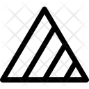 Triangles Scaled Stripes Icon