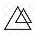 Two Triangles Icon