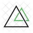 Triangles Two Icon