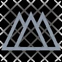 Triangular Hills Icon