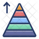 Triangular Pyramid Chart Graphical Representation Data Visualization Icon