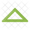 Ruler Triangular Straightedge Icon
