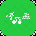 Triathlon Athletics Paralympic Icon
