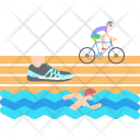 Triathlon Swimming Athletics Icon