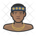 Tribesman Man Traditional Icon