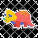 Triceratops Dino Dinosaur Icon