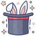 Magic Magician Hat Bunny Hat Icon
