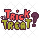 Trick Treat Halloween Icon