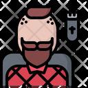 Shaving Man Hairstyle Icon