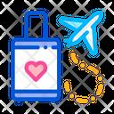 Valise Airplane Honeymoon Icon