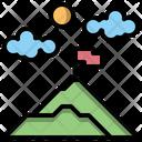 Trip Camping Mountains Icon