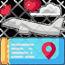 Trip Tickets Airplane Icon