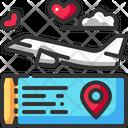 Airplane Heart Love Icon