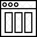Triple Column Grid Icon