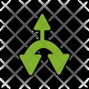 Triple Direction Arrows Icon