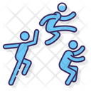Triple Jump Track Field Icon