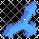 Triple Road Arrows Icon