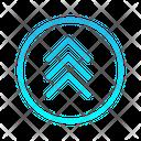 Triple Top Chevron Zigzag Top Right Arrow Arrows Icon