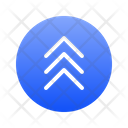 Triple Top Chevron Icon
