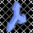 Triple Way Arrows Icon