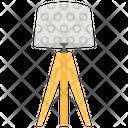 Tripod Lamp Shining Light Flashlight Icon