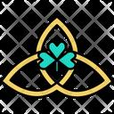 Triquetra Saint Patrick St Patricks Day Icon