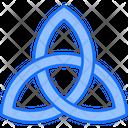 Triquetra St Patricks Day Badge Icon