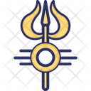 Trisula Sanskrit Three Spear Icon
