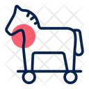Trojan horse attack Icon