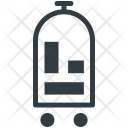Trolley Luggage Hotel Icon