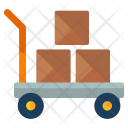 Boxes Trolley Parcel Icon