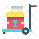 Trolley Package Delivery Icon